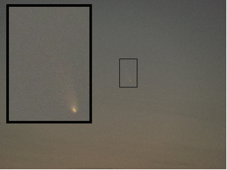Comet C/2011-L4 Pan-STARRS, March 13, 2013. Shot from Santa Clara, CA.