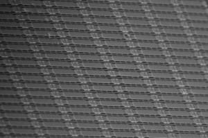 Electron microscope image showing the metasurface for a terahertz modulator developed by a group led by UCLA professor Mona Jarrahi. (Source: UCLA)