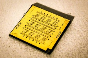 Shown here is a square-centimeter chip containing the nTron adder, which performed the first computation using the researchers' new superconducting circuit. (Source: MIT)