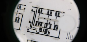 Nanyang Technological University has printed complex electronic circuits using a common t-shirt printer. (Source: NTU)
