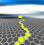 Periodic grain boundaries in graphene may lend mechanical strength and semiconducting properties to the atom-thick carbon material, according to calculations by scientists at Rice University. (Source: Rice University)