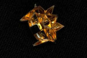 The MIT researchers' centimeter-long origami robot (Source: MIT)