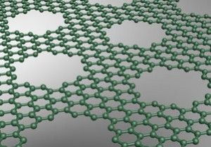 Rendering of a graphene barrier (Source: UCLA)