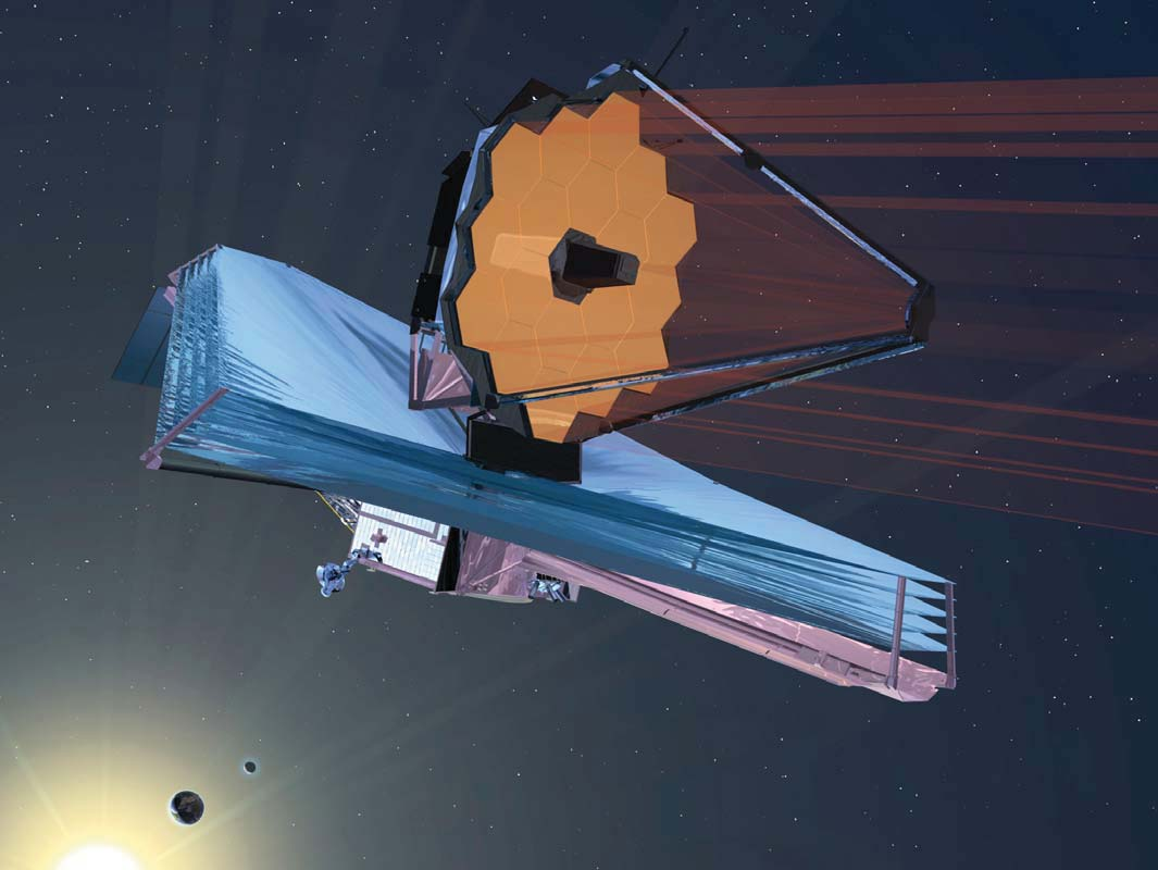 Artists impression of the deployed JWST
