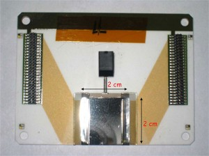 The Hall C Compton Polarimeter uses a novel detector system built of thin slivers of diamond. (Source: Jefferson Lab)