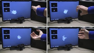 "This series of photos shows the use of a new system, called DeepHand, developed by researchers in Purdue University's C Design Lab. It is capable of ""deep learning"" to understand the hand's nearly endless complexity of joint angles and contortions, an advance that will be needed for future systems that allow people to interact with virtual environments in virtual and augmented reality. (Source: Purdue University)"