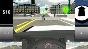 When the driver fails to look at critical elements in the virtual surroundings, then the simulator will stop and highlight the critical objects. (Source: Robotics and Autonomous Systems Lab/Vanderbilt University)