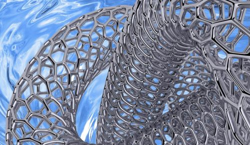 Artistic rendition of a metallic carbon nanotube being pulled into solution, in analogy to the work described by the group. (Source: Alex Adronov/McMaster University)