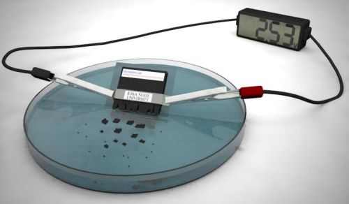 Illustration of the dissolving battery. (Source: Ashley Christopherson)