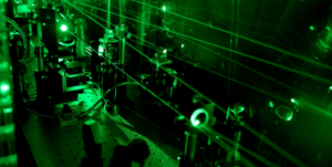 Part of the laser system that is required to determine the size of the deuteron. (Photograph: Paul Scherrer Institute/A. Antognini and F. Reiser)